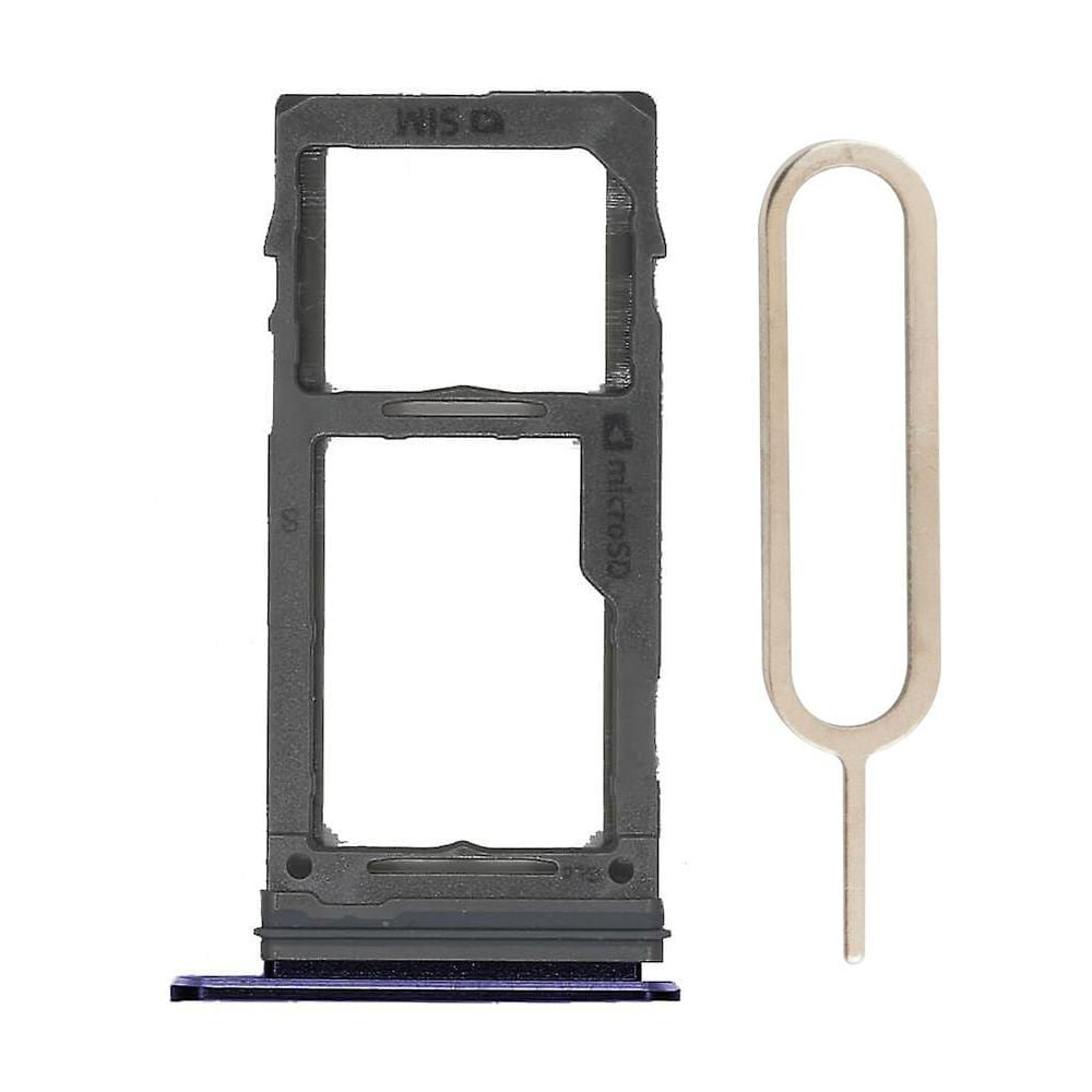 Blue SIM Card Tray Holder with Eject Tool for Samsung Galaxy S9 / S9 Plus Pic0