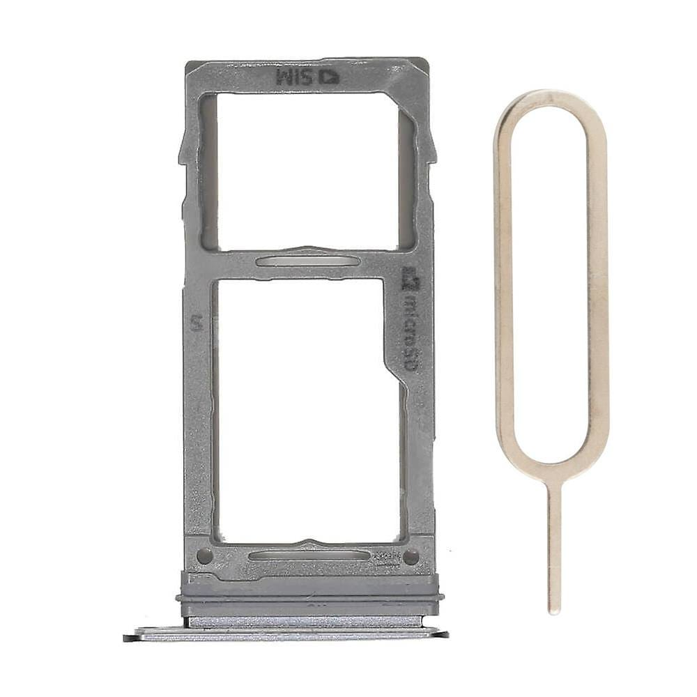 Gray SIM Card Tray Holder with Eject Tool for Samsung Galaxy S9 / S9 Plus Pic0