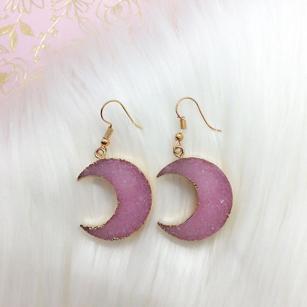 Pink Lunette Earrings