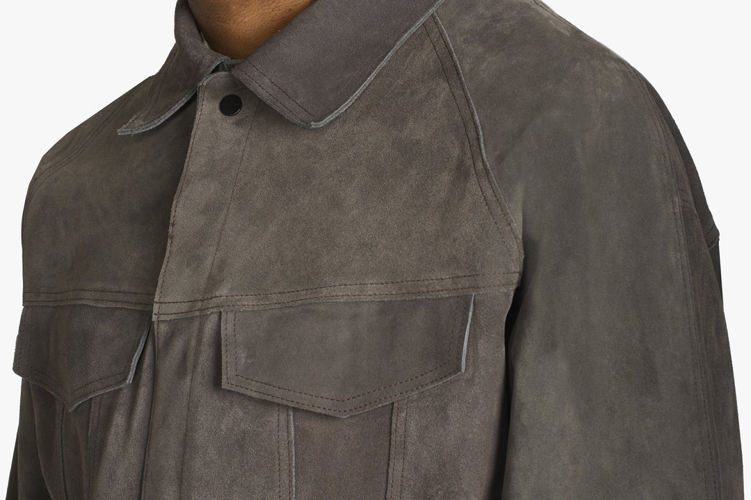 Suede Trucker Jacket - Suede Trucker Jacket