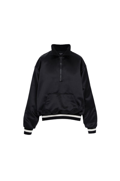 Satin Half-Zip Coaches Jacket