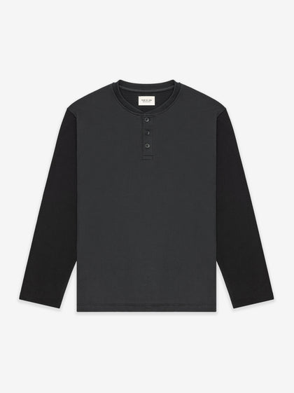 Long Sleeve Henley Vintage Black - Fear of God