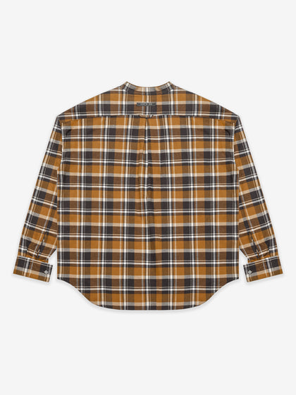 Plaid Pullover Henley Brown Plaid - Fear of God