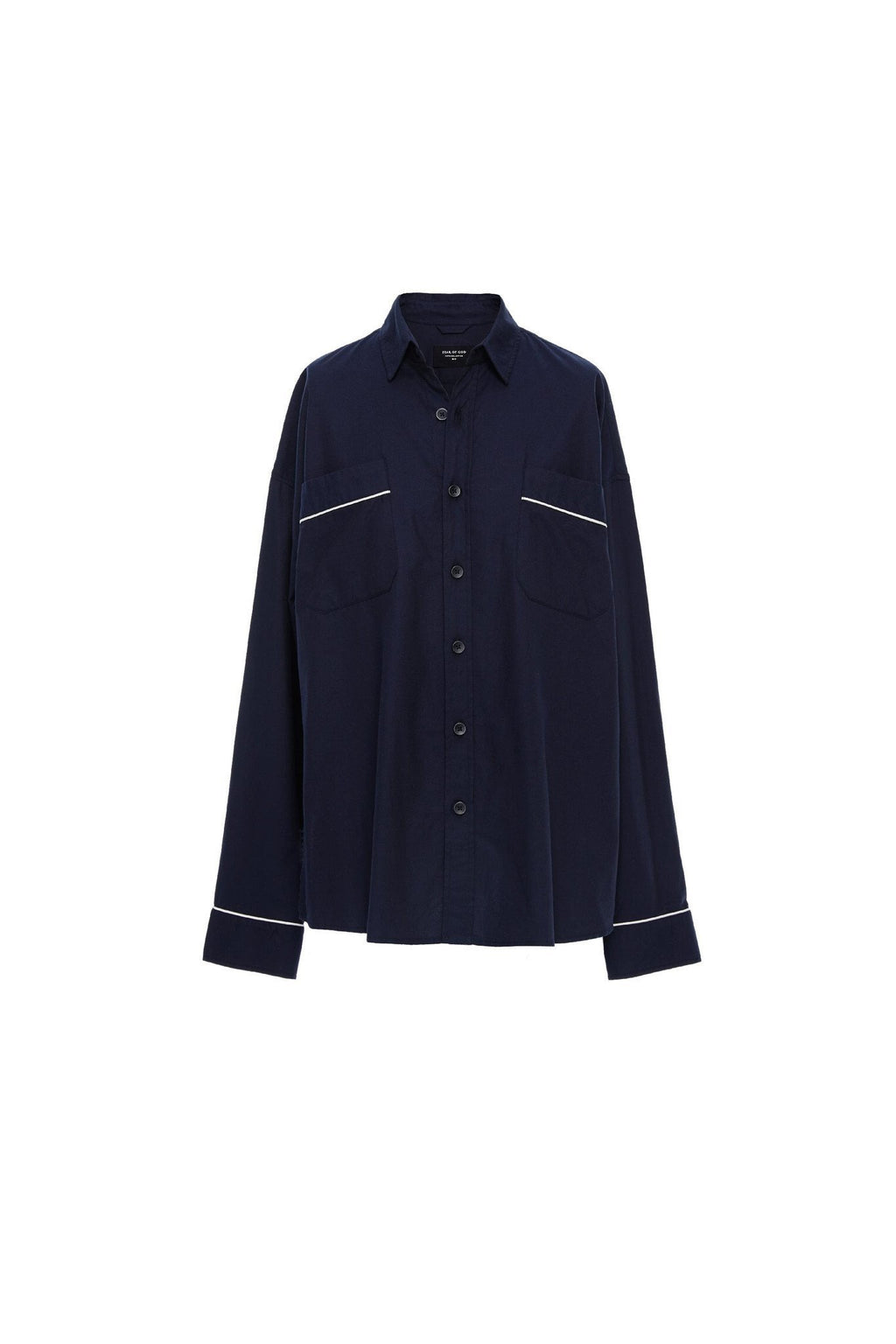 Piped Oversized Shirt