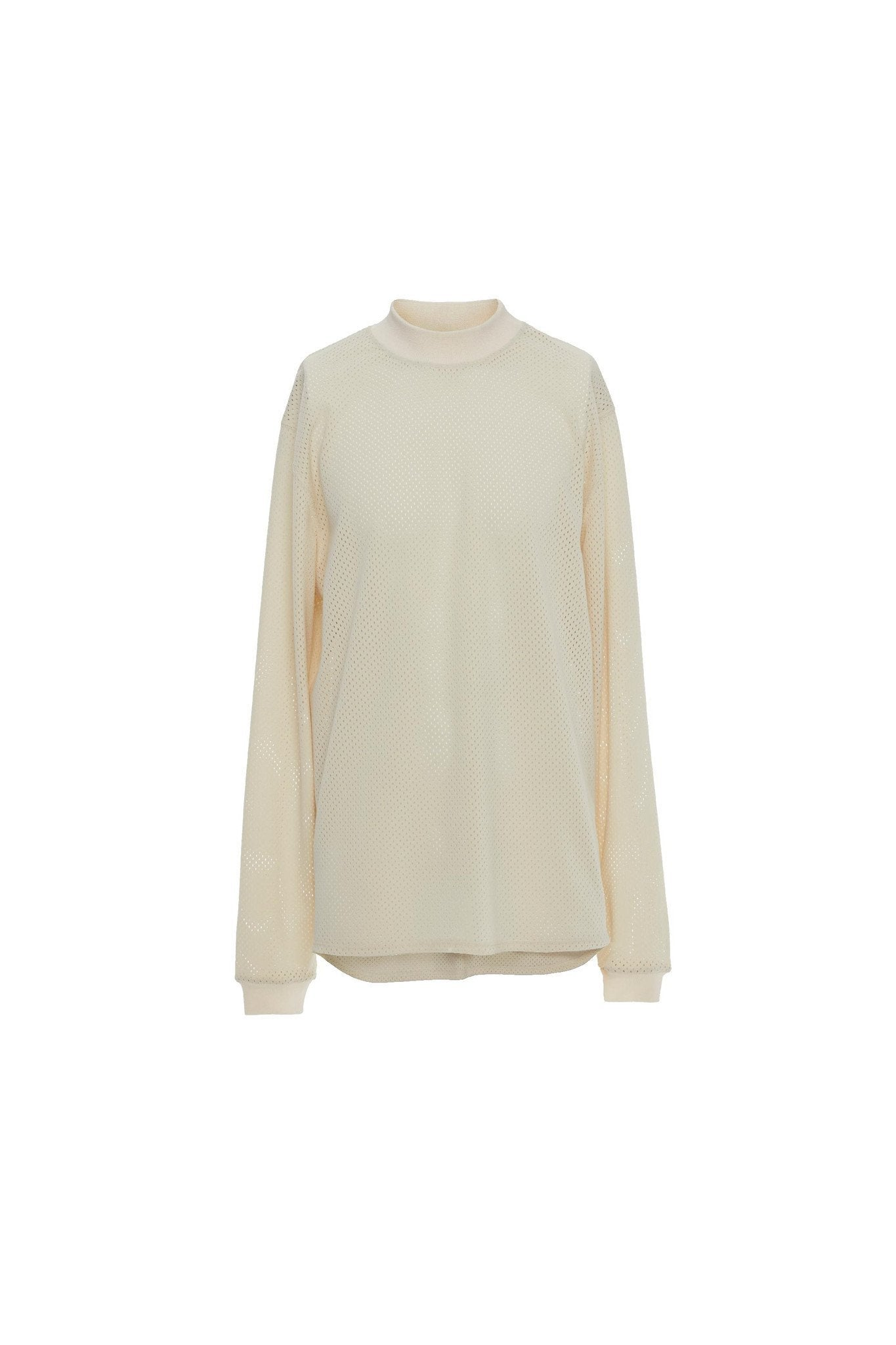 Mesh Long Sleeve Basic Tee