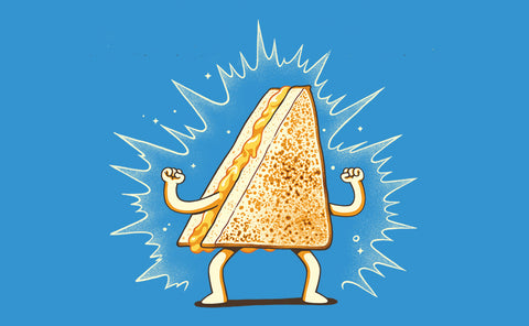 Grilled  cheese sandwich finally inducted into the Sandwich Hall of Fame. Illustration by Mellin Paulo Bernardo