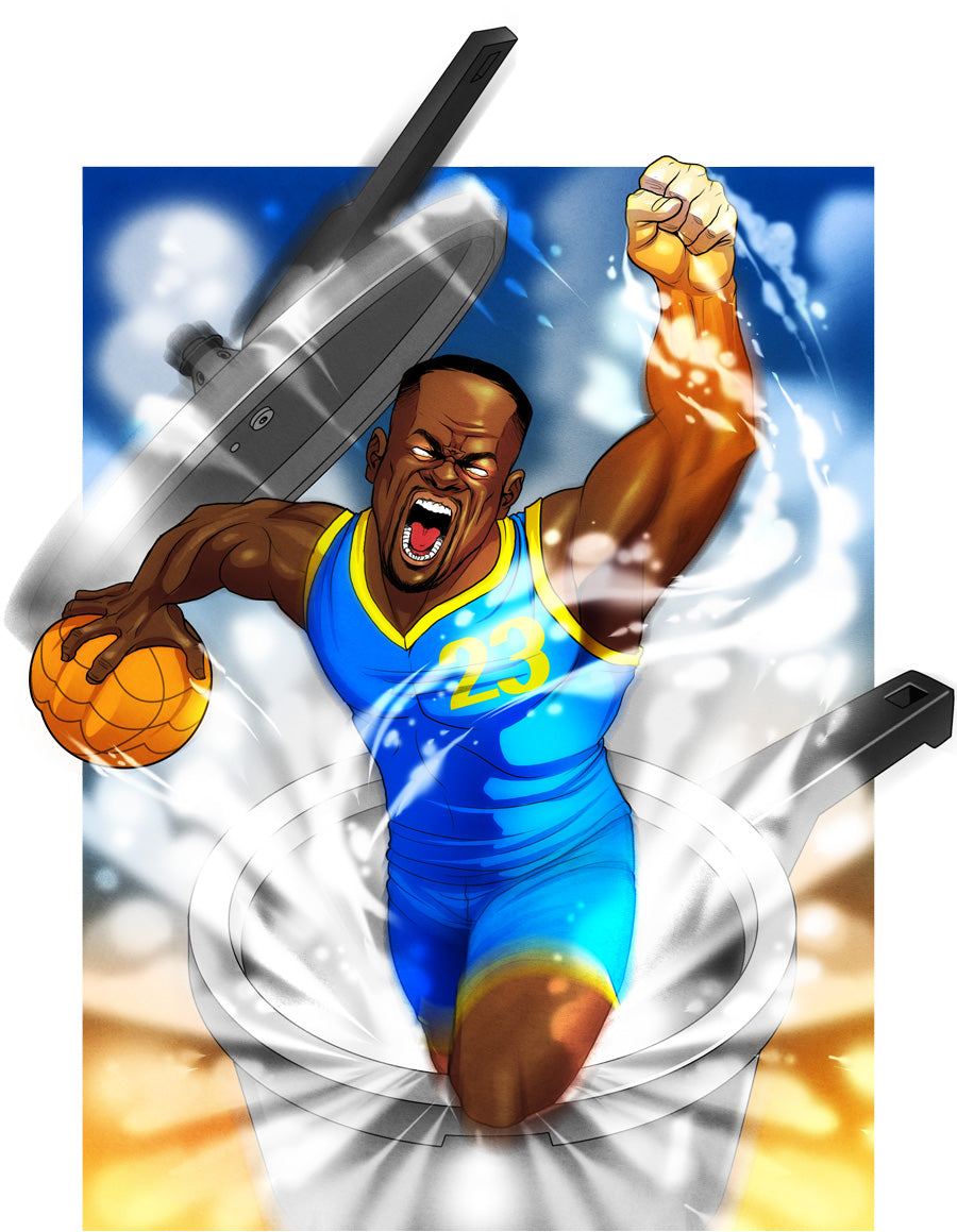 NBA Draymond Green alter ego as food superhero named The Pressure Cooker