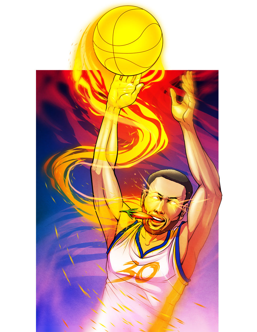 NBA Stephen Curry alter ego as food superhero named The Ghost Pepper