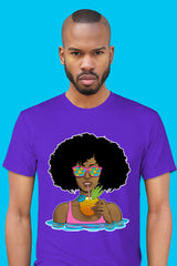 ZillaMunch Tee - Afrolicious - Men - Purple Rush