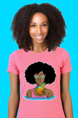 ZillaMunch Tee - Afrolicious - Women - Hot Pink