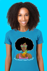 ZillaMunch Tee - Afrolicious - Women - Turquoise
