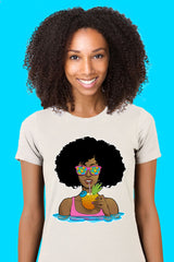 ZillaMunch Tee - Afrolicious - Women - White