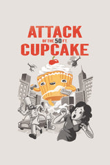 ZillaMunch Tee - Attack of the 50ft Cupcake - Artwork
