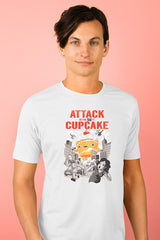 ZillaMunch Tee - Attack of the 50ft Cupcake - Men - Heather White