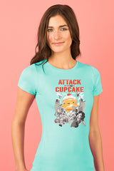 ZillaMunch Tee - Attack of the 50ft Cupcake - Women - Tahiti