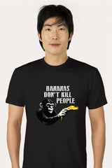 ZillaMunch Tee -  Bananas Don't Kill People - Men - Black