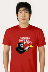ZillaMunch Tee -  Bananas Don't Kill People - Men - Red