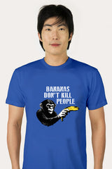 ZillaMunch Tee -  Bananas Don't Kill People - Men - Royal