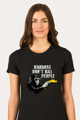 ZillaMunch Tee -  Bananas Don't Kill People - Women - Black