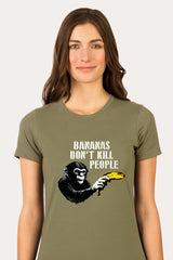 ZillaMunch Tee -  Bananas Don't Kill People - Women - Light Olive
