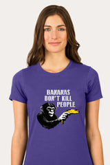 ZillaMunch Tee -  Bananas Don't Kill People - Women - Purple Rush