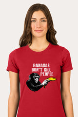 ZillaMunch Tee -  Bananas Don't Kill People - Women - Red