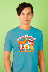 ZillaMunch Tee - Breakfast of Champions - Men - Turquoise