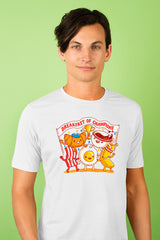 ZillaMunch Tee - Breakfast of Champions - Men - White