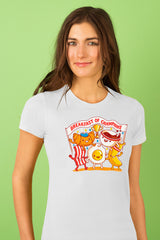 ZillaMunch Tee - Breakfast of Champions - Women - White