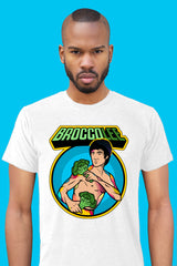 ZillaMunch Tee - BroccoLee - Men - Heather White