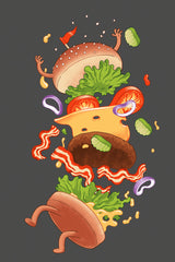 ZillaMunch Tee -  Burger Fail - Artwork