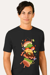 ZillaMunch Tee -  Burger Fail - Men - Black