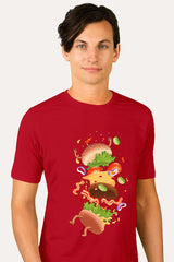 ZillaMunch Tee -  Burger Fail - Men - Red