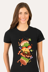 ZillaMunch Tee -  Burger Fail - Women - Black