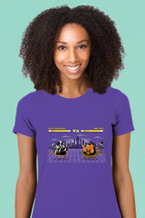 ZillaMunch Tee -  Caffeinator vs Mr Tea - Women - Purple Rush