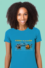ZillaMunch Tee -  Caffeinator vs Mr Tea - Women - Turquoise