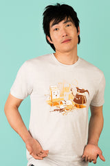 ZillaMunch Tee - Coffee Break - Men - White