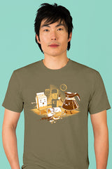 ZillaMunch Tee - Coffee Break - Men - Military Green