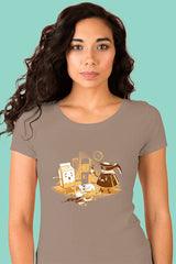 ZillaMunch Tee - Coffee Break - Women - Warm Gray