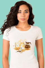 ZillaMunch Tee - Coffee Break - Women - White
