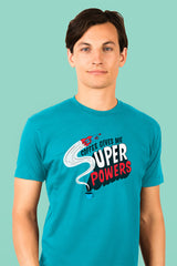 ZillaMunch Tee - Coffee Gives Me Super Power - Men - Bondi Blue