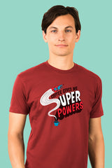 ZillaMunch Tee - Coffee Gives Me Super Power - Men - Cardinal