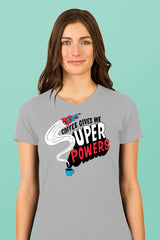 ZillaMunch Tee - Coffee Gives Me Super Power - Women - Silk