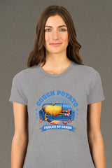 ZillaMunch Tee - Couch Potato - Women - Heather Gray