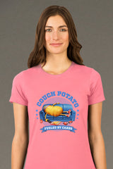 ZillaMunch Tee - Couch Potato - Women - Hot Pink