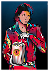 ZillaMunch Poster - King Of Pop - Blue