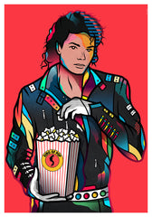ZillaMunch Poster - King Of Pop - Red