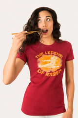 ZillaMunch Tee - Legend of Ramen II - Women - Scarlet