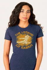 ZillaMunch Tee - Legend of Ramen II - Women - Midnight Blue