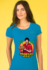 ZillaMunch Tee - Magnum P.I.E. - Women - Vintage Turquoise